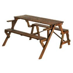 Attirant Converts From Park Bench To Picnic Table