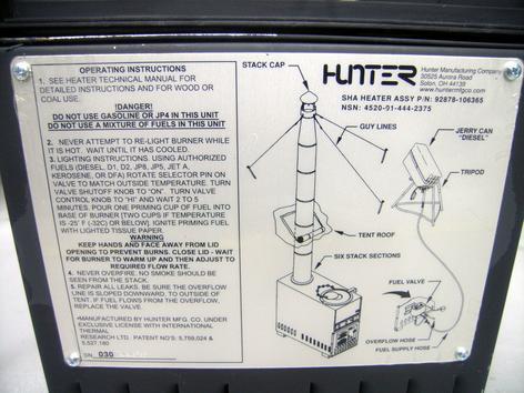 M1950 stove manual