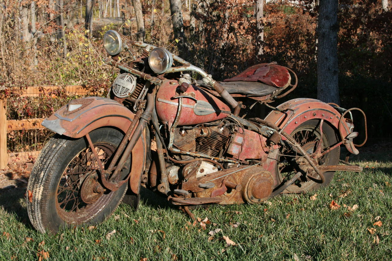 1940 knucklehead barn find for Motor city barn finds