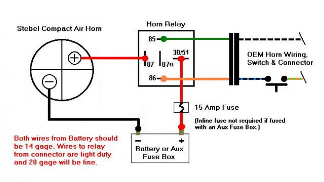 Stebel Wiring on Train Horn Wiring Diagram