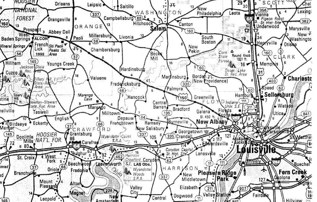 Southern Indiana Road Map  Bing Images