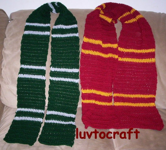 Harry Potter Scarf Knitting Pattern : CROCHET HARRY PATTERN POTTER SCARF FREE PATTERNS
